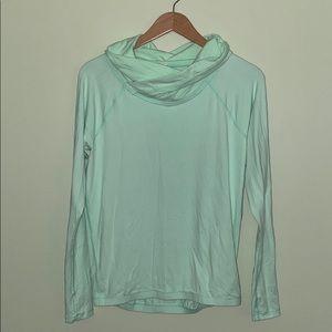 Lululemon Green Cowl Neck Long Sleeve Pullover - 4